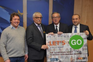 Road safety campaigners meet Juncker to ask for EU serious injury reduction target